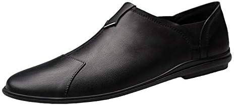 ファッションシューズ スタンダードシューズ 靴メンズレジャーローファーラウンドトゥオックスフォードカジュアルフラットペニーシューズソフトレザーアッパースリップオンウォーキングドライビングシューズ軽量 レジャーシューズ