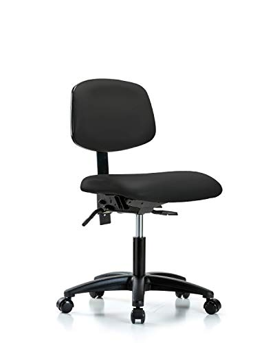 - LabTech Seating LT44205 Desk Height Chair, Vinyl, Nylon Base - Casters, Black