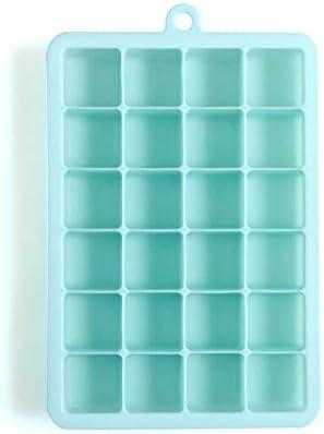Compra Bandeja de hielo de silicona Verano DIY Caja de hielo Bloque de hielo PP Cubierta de la caja Molde de hielo 24 Rejilla Bandeja de hielo de silicona Moldes para paletas