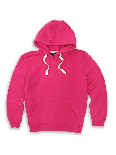 H&W Thank USA Men's Basic Fleece Pullover Hoodie Sweatshirt Hot Pink