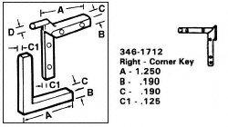 CRL Right Nylon Corner Key - 1.250