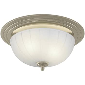 Nutone 745bnnt corrosion resistant decorative ventilation fan with light 70 cfm brushed nickel for Decorative bathroom fan with light