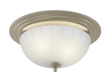 Captivating NuTone 745BNNT Corrosion Resistant Decorative Ventilation Fan With Light,  70 CFM, Brushed Nickel