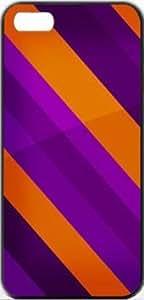 Rayure Purple Stripes Purple Patterns Rayure Apple iPhone 5/5s SLIM Case Carcasa [SF Matte Black (negro)] SUPER SLIM + SF COATED + PERFECT FIT Caso duro Premium Funda Cáscara Caso Cubrir