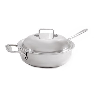 All-Clad d5 Stainless Brushed 4 Qt. Saute Pan with Domed Lid