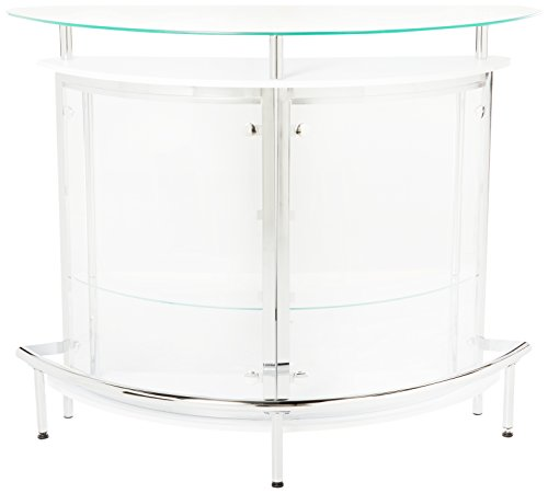 Coaster Contemporary Tempered Glass White Bar Unit Buy Online In Uae Misc Products In The