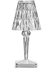 مصباح طاولة من الاكريليك من بيسوفيس 3 الوان اضاءة مع سطوع قابل للتعديل يو اس بي كريستال بجانب السرير مصباح ليلي مزخرف لغرفة النوم