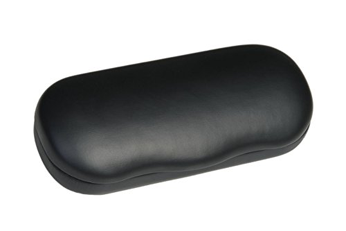 Hard Metal Bodied Eyeglass Case for Medium Frames in Matte Finish in (Womens Matte Black Leather)