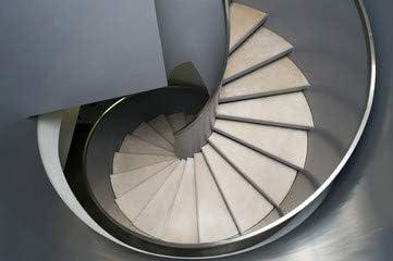 Escalera de caracol (76062921), aluminio-Dibond, 140 x 90 cm ...