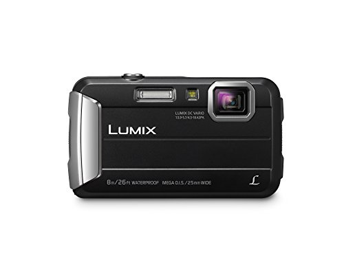 PANASONIC LUMIX Waterproof Digital Camera Underwater Camcorder with Optical Image Stabilizer, Time Lapse, Torch Light and 220MB Built-In Memory - DMC-TS30K (Black)