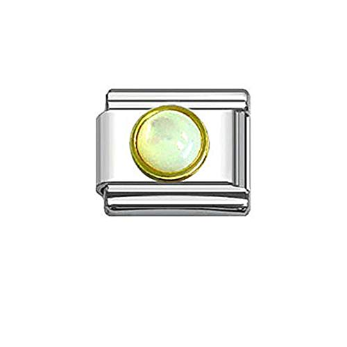 (SEXY SPARKLES Rhinestones Birthstone Italian Charm Bracelet 9mm Link Choose Your Birthstone from Menu )