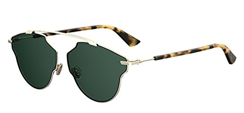 o Real Pop 3YG/QT Light gold havana/green Sunglasses ()