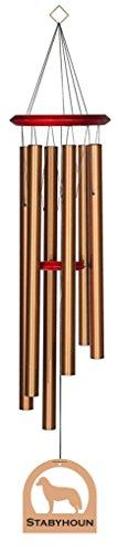 Chimesofyourlife E6148 Wind Chime, Stabyhoun/Bronze, 35-Inch