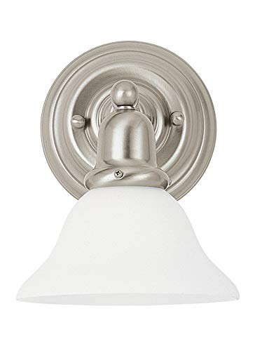 Sea Gull Lighting 44060EN3-962 One Light Wall/Bath Sconce, Brushed Nickel