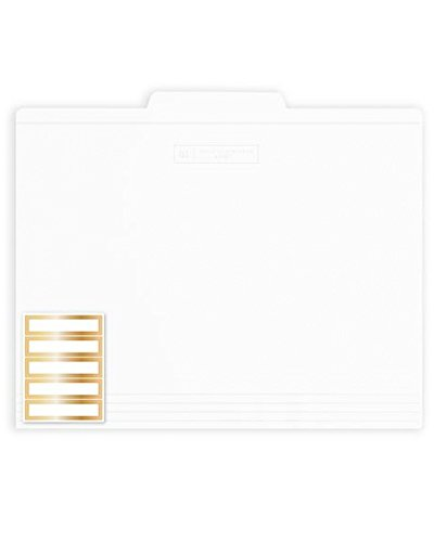 Russell+hazel The White Collection File Folders - White