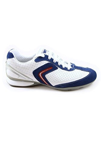 Geox Net Leather High Breathability Sneakers U Hibra A White/Navy EU41