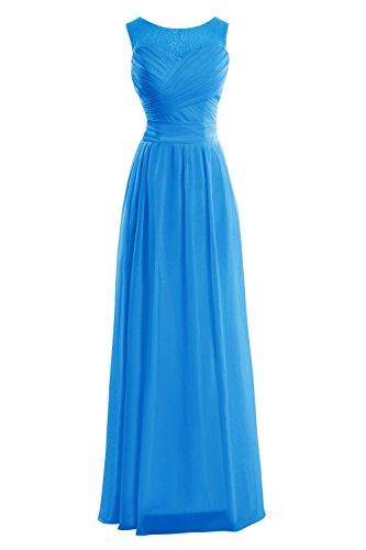 Promenade Donne Da Oceano Elegante Formale Abito Blu amp; Chiffon Sera Bridal Dora Di Acute; S 8qB8dY