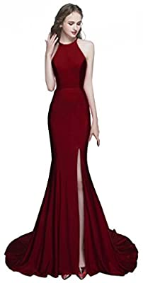 ROSAFASHION Womens Mermaid Prom Evening Dress Long