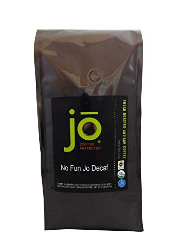 Fun Coffee - NO FUN JO DECAF: 2 lb, Organic Decaf Ground Coffee, Swiss Water Process, Fair Trade Certified, Medium Dark Roast, 100% Arabica Coffee, USDA Certified Organic, NON-GMO