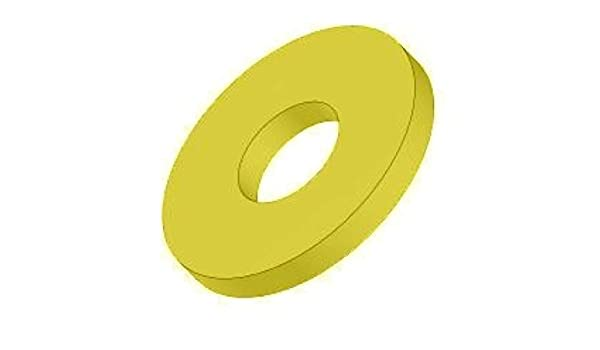 5 pk. 1 x 2 OD Zinc Yellow Finish Through Hardened Steel Thick Flat Washers