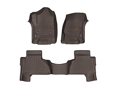 WeatherTech Custom Fit FloorLiner for Cadillac Escalade ESV - 1st & 2nd Row (Cocoa)