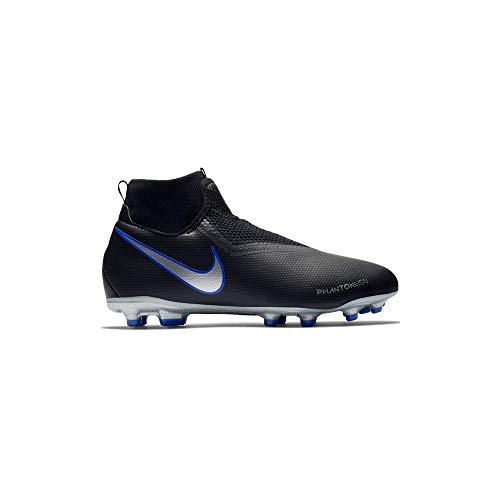 Nike Youth Soccer Jr. Phantom Vision Academy Dynamic Fit Multi Ground Cleats (1.5 Little Kid M) Black/Blue
