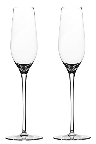 Crystal Champagne Glasses Handmade by Lead-free Crystal for Toasting Flutes,Elegant Champagne Glasses Set of 2 For Sale