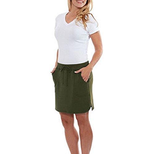 - Balance Collection Women's Weekend Skirt (XL, Olive Green)