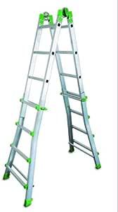 FARAONE 1 Escalera Telescópica Multiusos 10 Peldaños, Metálico, 140 x 64 x 20: Amazon.es: Bricolaje y herramientas