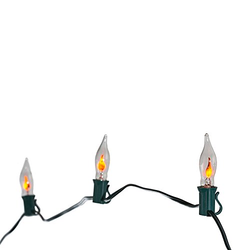 Flickering Flame Outdoor String Lights