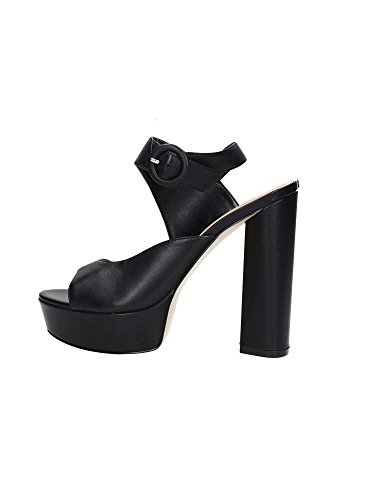 Guess Women Leather Smooth Makenna2 Black Slingback r7q0r