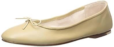 Bloch London Womens Fonteyn Ballet Flat, Cappuccino, 36 EU/6 M US