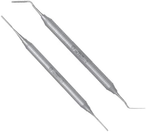 OSUNG Dental Periotome Set. Posterior Curved and Anterior Straight Working Ends