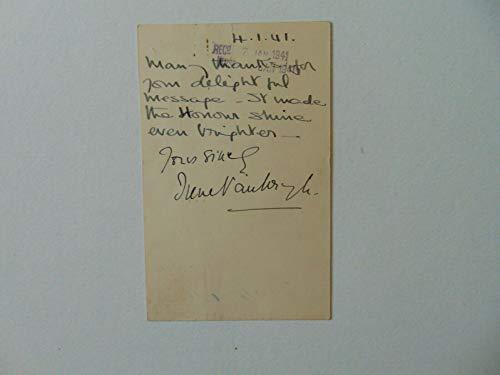 "RARE!""Hamlet"" Dame Irene Vanbrugh Hand Written Note Dated 1941 Todd Mueller COA from Unknown"