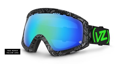 VonZipper Feenom Spherical Snow Goggle, Happy Caps/Quasa - Feenom