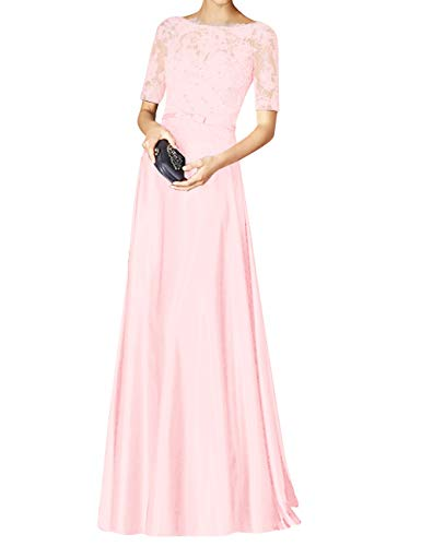 Lace Pink Bridal Beaded Evening Party Formal Bess Sleeves Women's Blushing Prom Dress Short qEUxxwCn