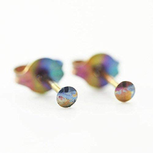 (i-Dot 2mm Anodized Niobium Post Earrings )