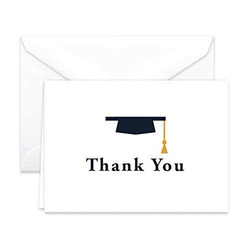 Graduation Thank You Notes (Paper Frenzy Graduation Cap Thank You Cards and Envelopes 25)