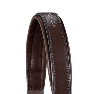 Fancy Stitched Leather - Dover Saddlery Classic Fancy-Stitched Leather Halter - Chocolate/Chocolate, Horse-F/S