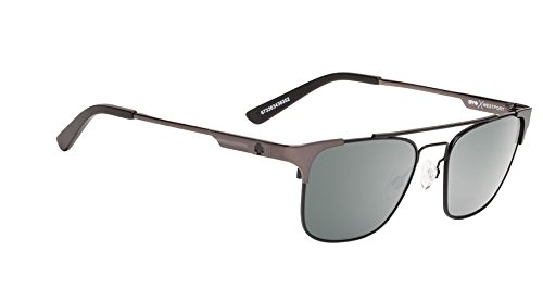 Spy Optic Westport Sunglasses Matte Black/Matte Gunmetal with Happy Lens + Hard - Gunmetal Spy Sunglasses