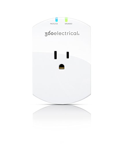 360 Electrical 360300 Loft Mini 1 Outlet Surge Wall Tap with Alarm ()