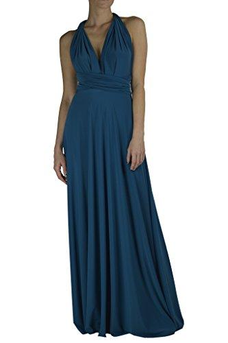 VonVonni Women's Transformer Dress,Teal,One Size Fits USA 2-10