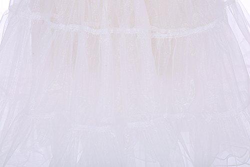 tulle 66cm 26 Rockabilly Ivoire annes Dresstells vintage longueur en Jupon 50 Petticoat vCwq1Xz