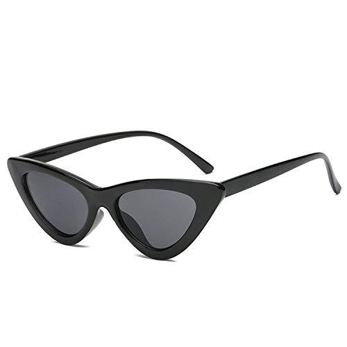 Christmas gifts Women Sunglasses Cat Eye Eyewear Designer Sunglass Female UV400 Sun Glasses,BlackFrameBlack ()