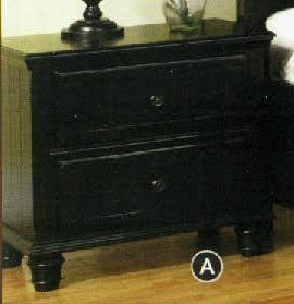 Willow Creek Cottage - Willow Creek Black Cottage Night Stand