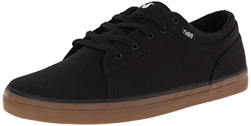 Dvs Mens Aversa Skateboarden Schoen Zwart Gom Canvas