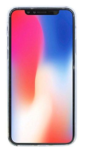 iPhone X // Silikon Hülle Tasche Case Zubehör Gummi Bumper Schale Schutzhülle Zubehör in Transparent @ cofi1453®