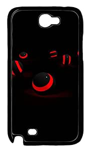 Black And Red Abstract Custom Samsung Galaxy Note II N7100 Case Cover ¨C Polycarbonate ¨CBlack