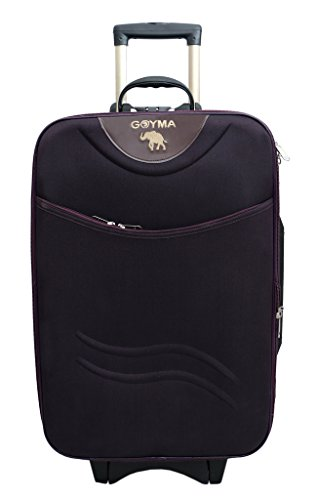 Goyma Stylish Hard Shell Expandable 24 Inches Purple Color Trolley Bag