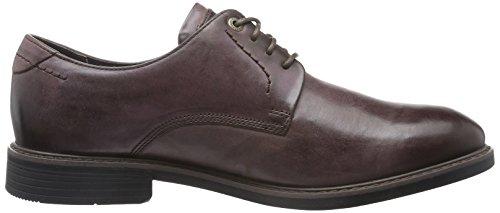 Rockport Classic Break Plain Toe, Zapatos de Cordones Derby para Hombre Marrón - marrón (Choc)